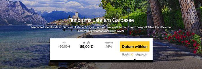 4 8 Tage am Gardasee (Italien) mit Frühstück oder HP ab 89€ p.P.