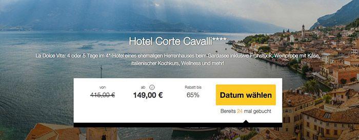Gardasee1 4 Tage Gardasee im 4* Hotel mit Frühstück, Weinprobe & Kochkurs ab 149€ p.P.