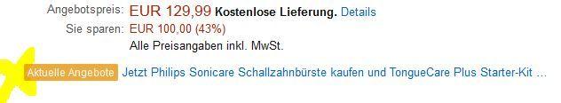Gratis care plus Philips Sonicare HX9372/04 DiamondClean Amethyst Edition  eSchallzahnbürste + Zungenreiniger für 129,99€