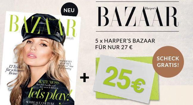 Harpers Bazaar 5 Ausgaben Harpers Bazaar für 2€
