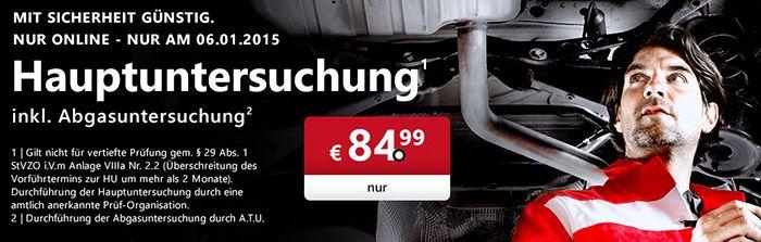 A.T.U. Gutschein für Hauptuntersuchung (inkl. AU) für 79,99€   nur heute!