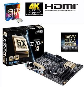 Intel Core i7 6700K Skylake + ASUS Z170 P D3 für eff. 404€ (statt 454€)