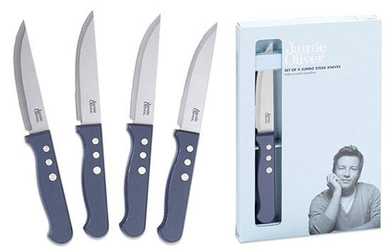 Jamie Oliver Steakmesser Set 4 teilig ab 7€ (statt 22€)