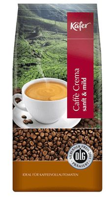 Kaefer Kaffeebohnen 1kg Käfer CaffeCrema sanft & mild Bohnen für 7,49€ (statt 11€)