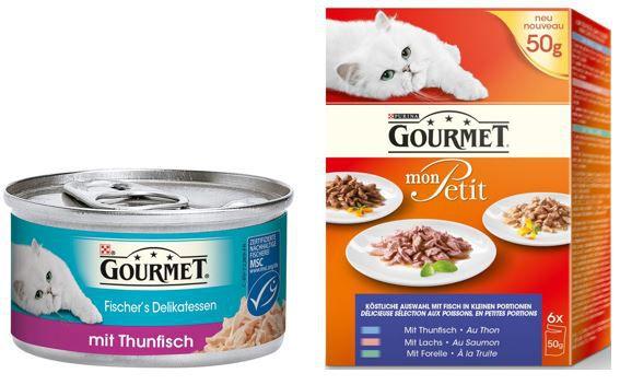 Gourmet Katzenfutter mit bis zu 25% Rabatt heute bei Amazon