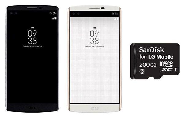 Gratis 200GB Speicherkarte beim Kauf eines LG V10 Smartphones   Abgelaufen