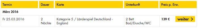 Deutschland vs. England + 2 ÜN im 3* Hotel Berlin mit Frühstück für 139€ p.P.