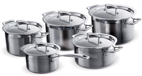Le Creuset 3Ply Mehrschicht Kochtopfset 5 teilig für 374€ (statt 480€)