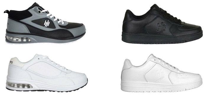 Low und High Sneakler Hoodboyz Echtleder Low  & High Sneaker für je 24,90€