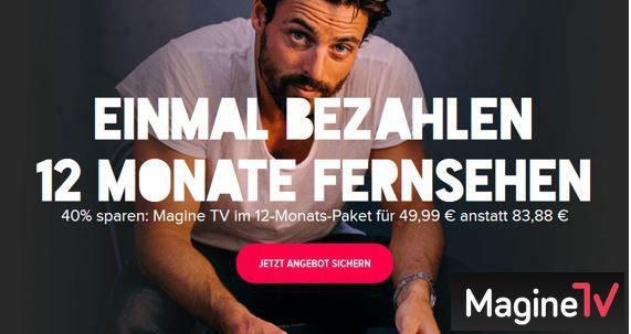 Magine TV   80 Online TV Sender für 12 oder 6 Monate ab 29,99€