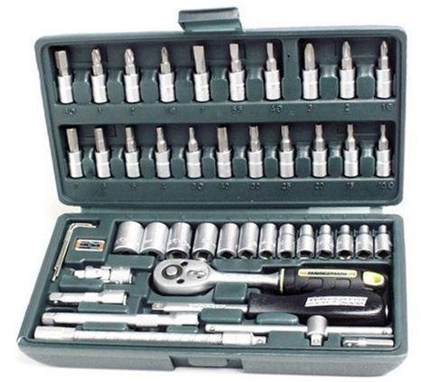 Mannesmann M2040   Steckschlüsselsatz 1/4 mit 46 Teilen für 18,65€