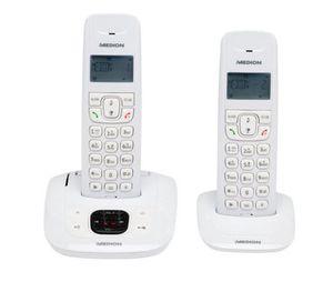 MEDION LIFE E63822 MD 84832   2er Set DECT schnurlos Telefon mit AB statt 40€ für 22,99€