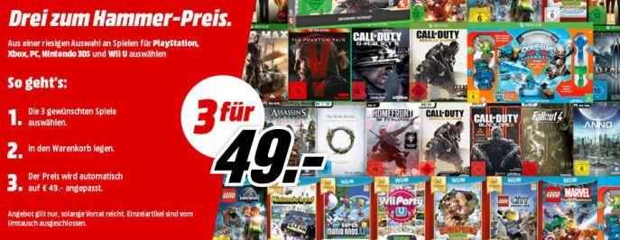 Tipp! 3 Games für Konsolen und PC nur 49€ oder 79€   2 XBox Games zum Preis von einem