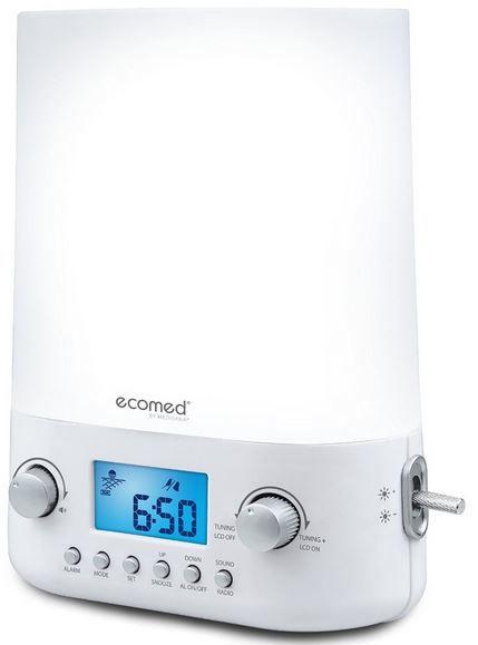 Medisana WL 50E Medisana Ecomed WL 50E Lichtwecker mit UKW Radio und Sonnenaufgangs Simulation für 29,90€