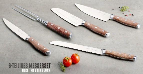 Villeroy & Boch Messer Set 4 teilig für 69€   6 teilig für 119€