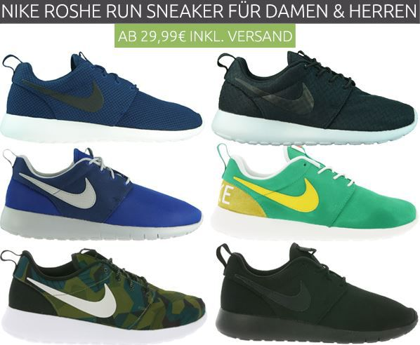 Nike Roshe Run1 Nike Roshe Run Laufschuhe ab 29,99€