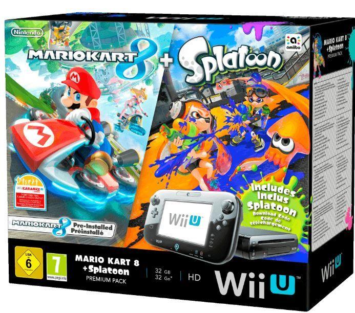 Nintendo Wii U Bundle Nintendo Wii U Premium + Mario Kart 8 + Splatoon für 257,14€
