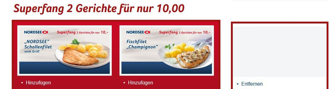 Neue Nordsee Coupons   günstig Fisch essen