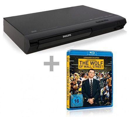 Philips 3D Blu ray Player + The Wolf of Wall Street Blu ray für 77€ (statt 103€)