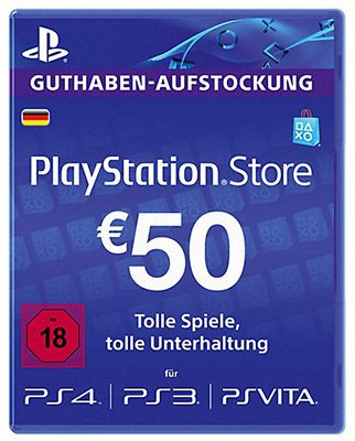 PlayStation Network Card 50€ Playstation Network Guthaben für 38,79€