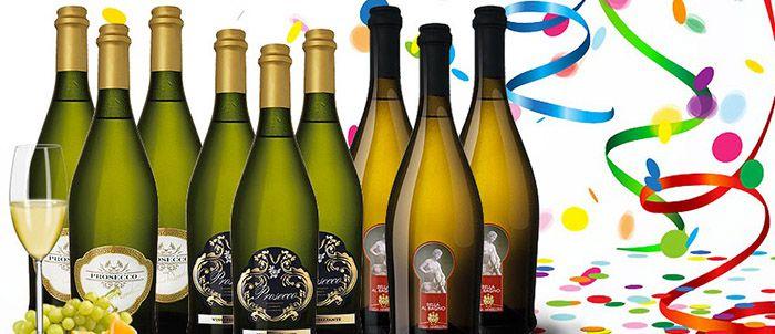 Prosecco Paket 9 Flaschen Prosecco im Karneval Partypaket für 39,99€