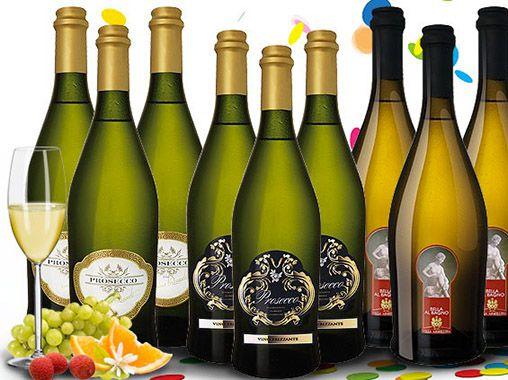 9 Flaschen Prosecco im Karneval Partypaket für 39,99€