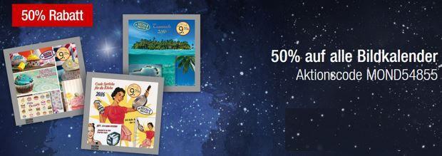 50% Rabatt auf alle Bildkalender bei den Galeria Kaufhof Mondschein Angeboten