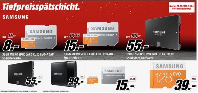 Samsung EVO microSDXC 128GB ab 34€ in der MediaMarkt SAMSUNG Speicher Tiefpreisspätschicht