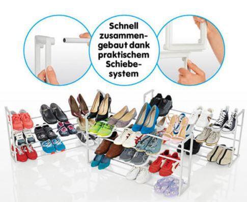 Schuhschrank XXL Schuhregal für bis zu 50 Paar Schuhe nur 18,88€