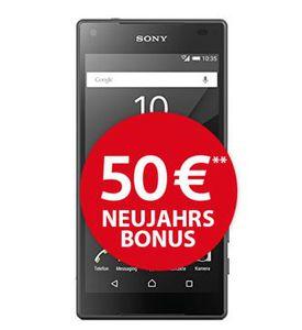 Sony Xperia Z5 Compact + AllNet Flat + 500MB Daten für nur 18,99€ mtl.