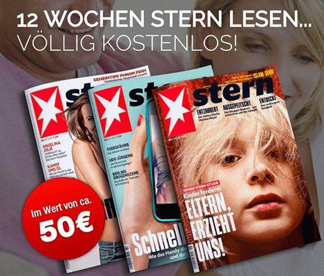 Stern kostenlos 12 Ausgaben Stern kostenlos lesen   Kündigung notwendig!
