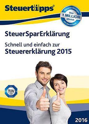 Steuer Spar Erklärung 2016 (für Steuerjahr 2015) für 19,95€