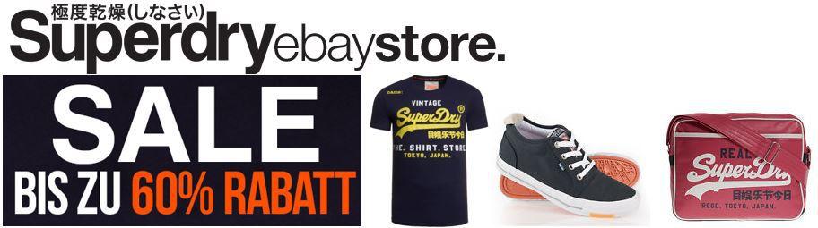 Superdry mega Sale Superdry Sale auf eBay mit bis zu  70% Rabatt + 20% Gutschein + VSK frei