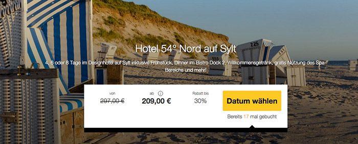 Sylt Urlaub 4 8 Tage Sylt im TOP 4* Hotel mit Frühstück, Spa, Dinner ab 209€ p.P.