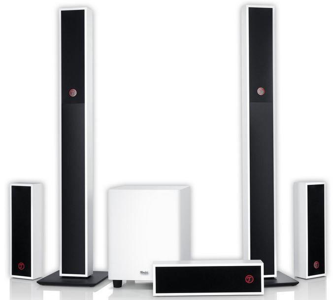 Teufel Columa 200   5.1 Heimkino Säulen Lautsprecherset für 349,99€