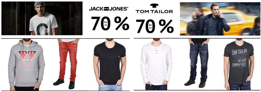 Tom Tailor, Jack & Jones, Urban Classics, Urban Dance, Flexfit und Patria Mardini mit bis zu 70% Rabatt