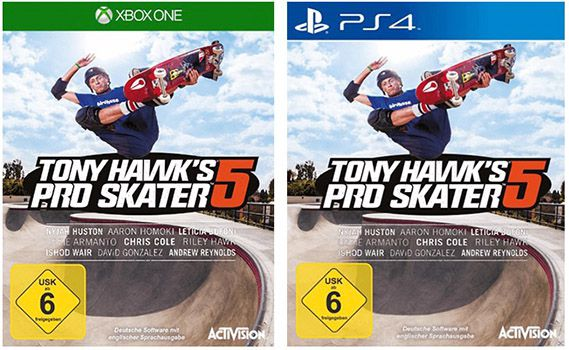 Tony Hawks Pro Skater 5 (PS4/Xbox One) für 12,99€ (statt 29€)