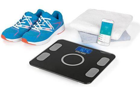 VITALmaxx VITALmaxx   Bluetooth Körperfettanalysewaage mit App für 24,99€