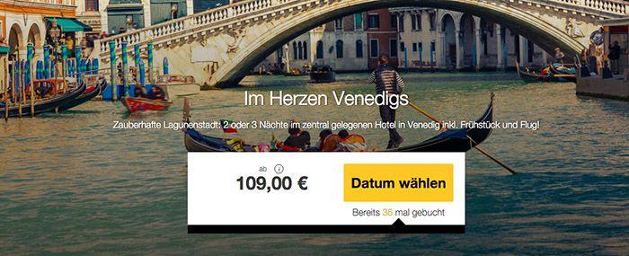 2 3 Nächte Venedig mit Frühstück und Flüge ab 109€ p.P.