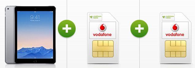 Apple iPad Air 2 WLAN & 4G 64GB + 2x Vodafone Smart Surf für 29,52€ mtl.