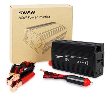 Wechselrichter SNAN 300W Wechselrichter mit 2 USB Ports ab 23,99€ (statt 36€)