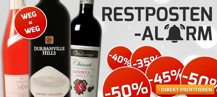 Weinvorteil Restposten Großer Restposten Ausverkauf bei Weinvorteil + Gutscheine   z.B. 6 Flaschen Piemonte DOC 2014 für 35€