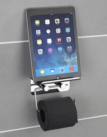 Wenko Toilettenpapierhalter Wenko Toilettenpapierhalter mit Smartphone Ablage ab 15,99€ (statt 20€)