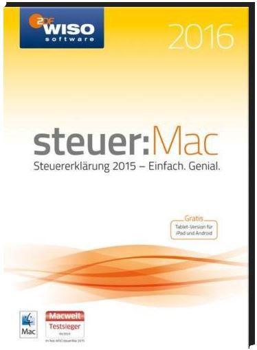 Wieso Software WISO steuer: Mac 2016 Vollversion 1 Lizenz (Steuerjahr 2015) für 19,99€