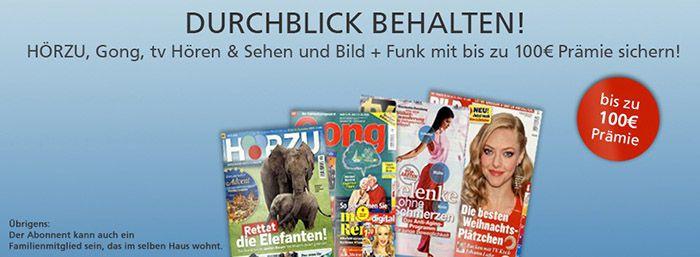 Zeitschriften Jahresabos Zeitschriften Jahresabos ab effektiv 1,60€   HÖRZU, Gong uvm.