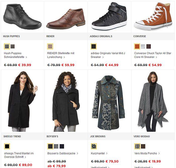 BAUR: 30% Rabatt auf Jacken, Mäntel und Schuhe   NUR HEUTE