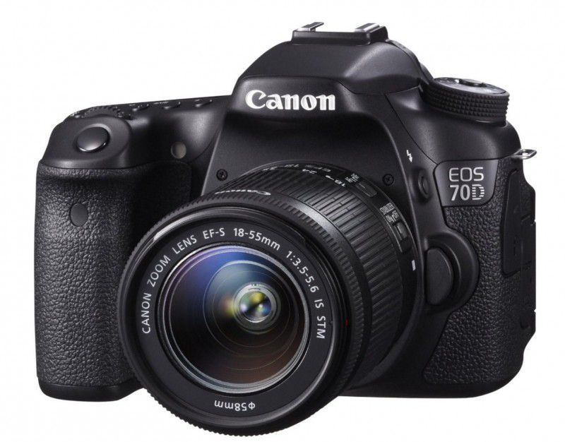Canon EOS 70D   SLR Digitalkamera 20 MP APS C + 18 55mm Objektiv für 789€