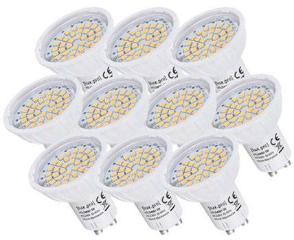 lux.pro GU10 10er Pack lux.pro GU10 LED Spots 3W für 9,99€ (statt 15€)