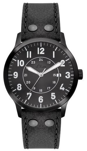 s.Oliber Herren Uhr s.Oliver SO 2976 LQ   Herren XL Uhr für 64,99€