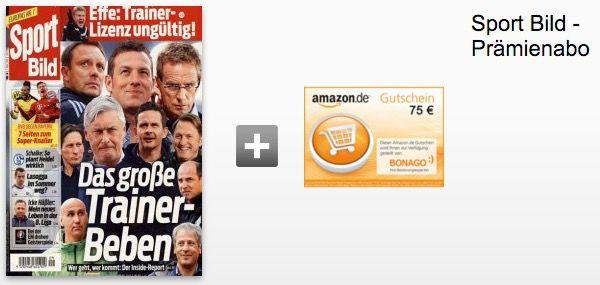 sport bild Sport Bild Jahresabo für effektiv 36,80€ dank 75€ Gutschein Prämie
